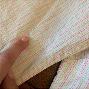 Lilly Pulitzer Tops - Lilly Pulitzer pink green gingham plaid top 0